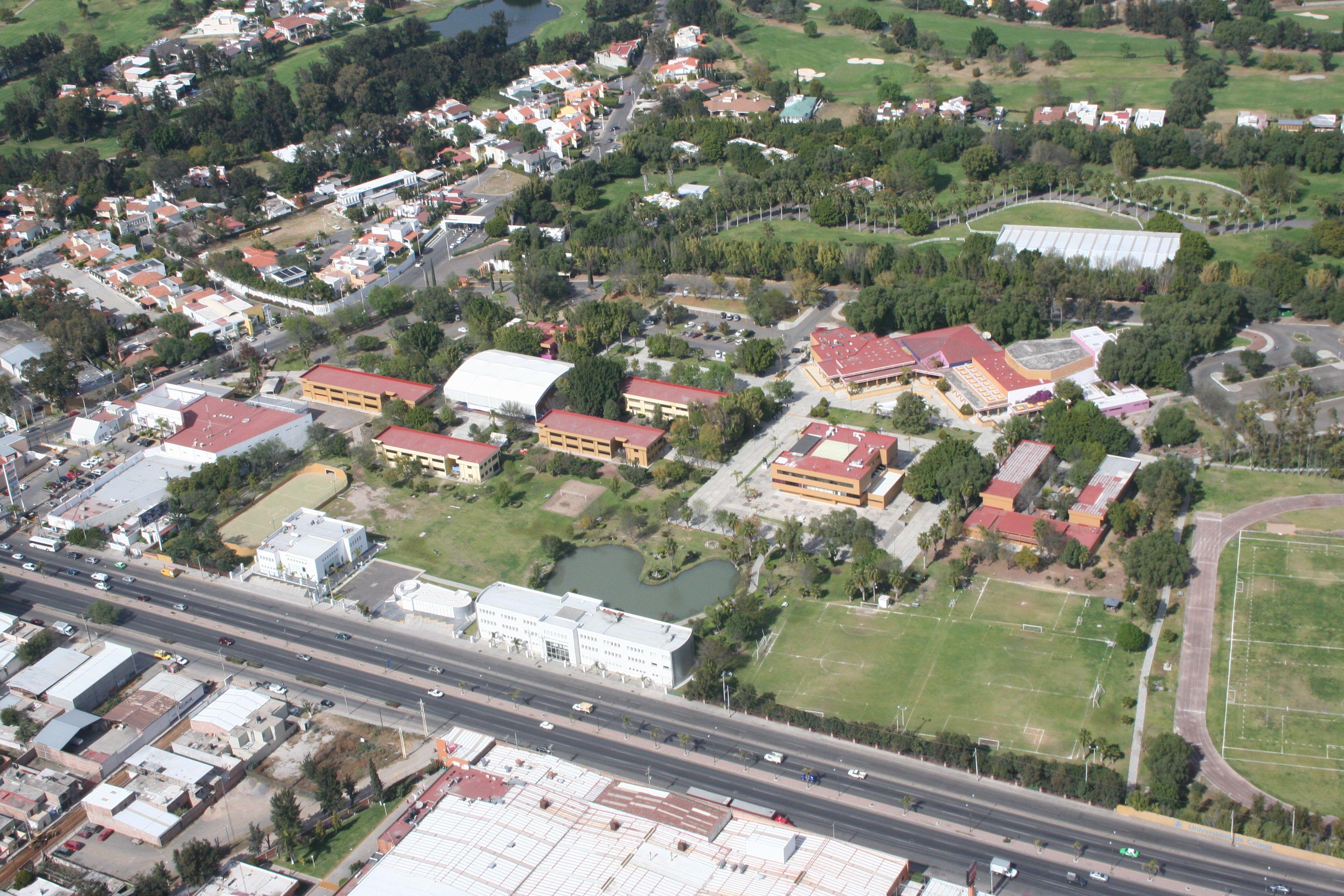 Una vista aérea del Campus