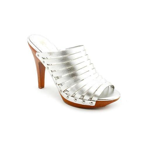 Inc International Concepts Wanda Womens Size 9 Silver Leather New Display | eBay