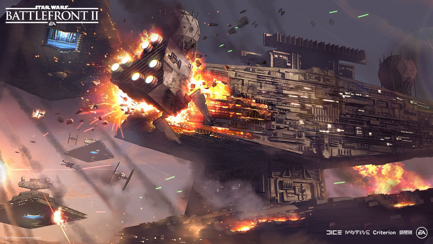 Star Wars Battlefront Ii Concept Art By Nicolas Ferrand Concept Art World Star Wars Wallpaper Star Wars Images Star Wars Spaceships