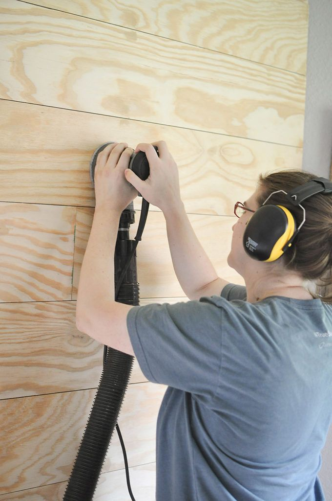 How To Plank An Accent Wall Diy Shiplap For Less Than