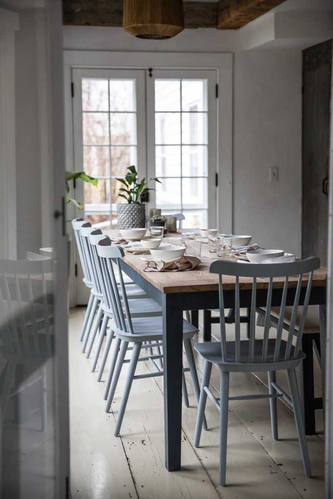 A Charming Hudson Valley Home By Jersey Ice Cream Co Table Salle A Manger Rustique Moderne Interieurs Rustiques Modernes