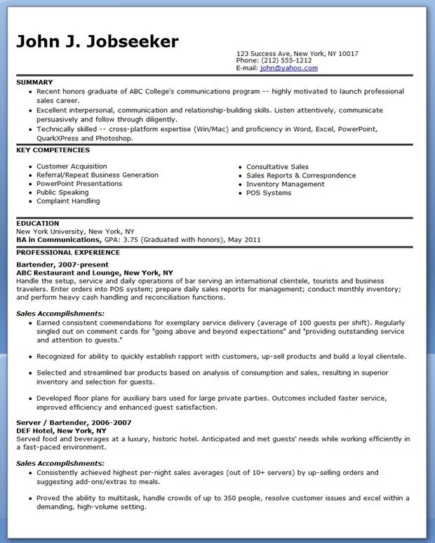 sample sales professional resume