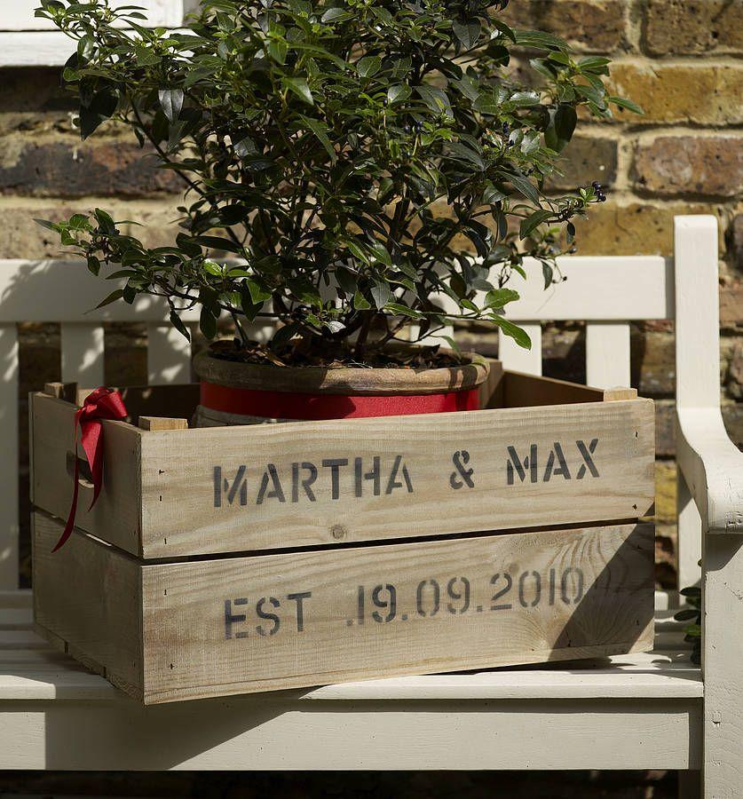 wooden crate box caja de madera wedding boda decoration
