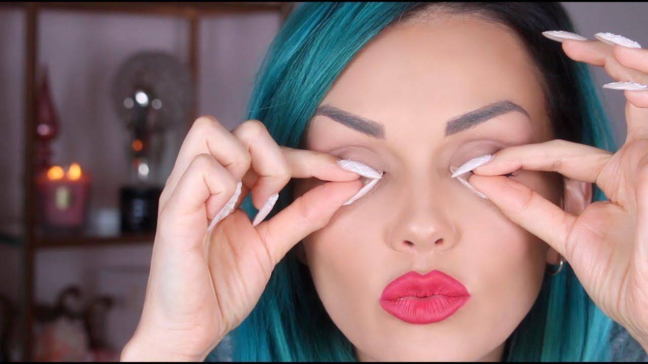 How to apply eyelashes youtube