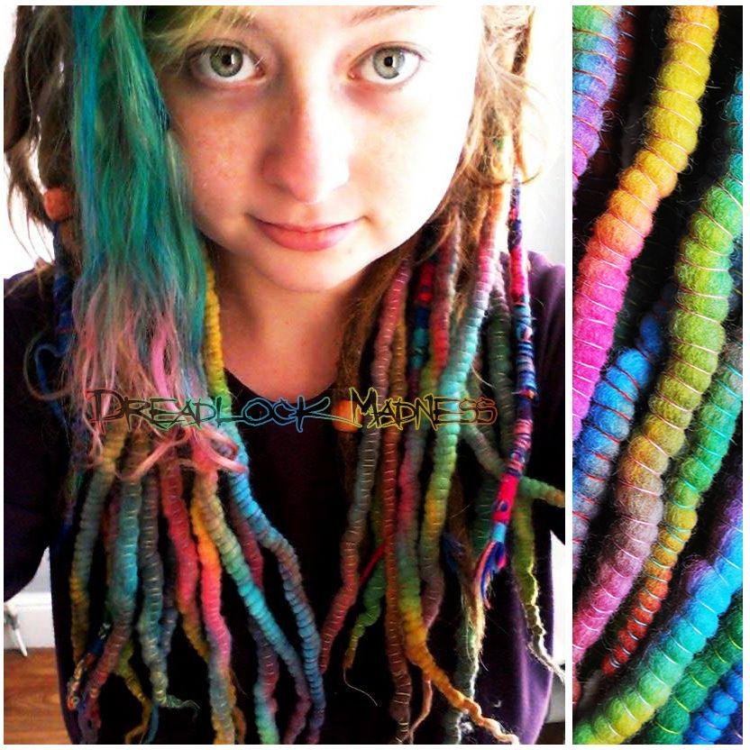 #dreads #dreaclocks #boho #hippie #ozora #hairstyle #fairy #summer #sexy #wool #roving