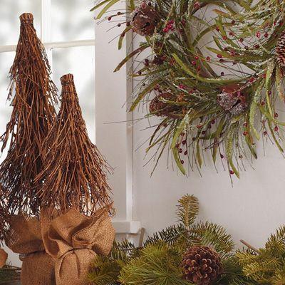 zzz2011Katie Brown Decorative Twig Tree with Burlap Base