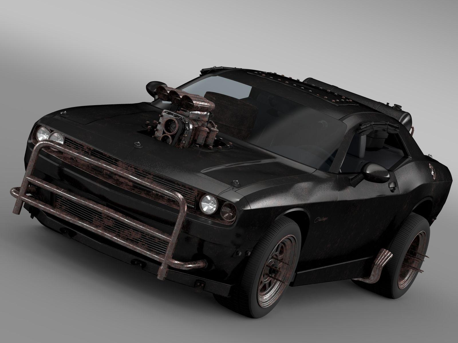 Mad Max Fight Interceptor Dodge Challenger 2015 3D Model