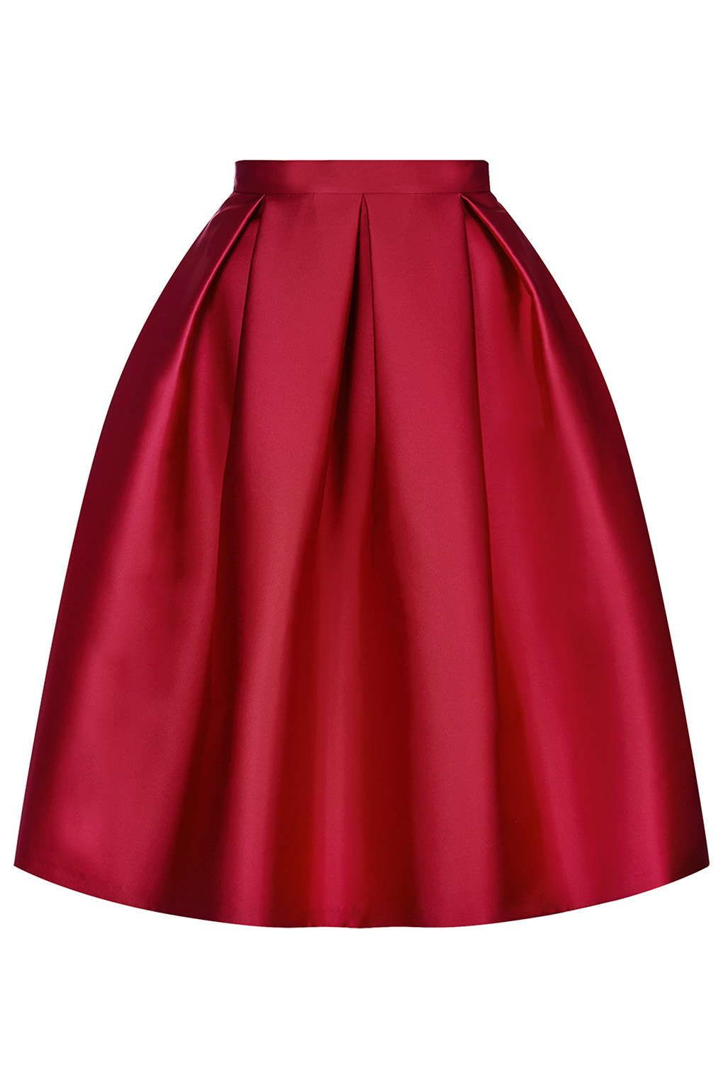 Satin Prom Midi Skirt | Skirts, iOS and Red satin