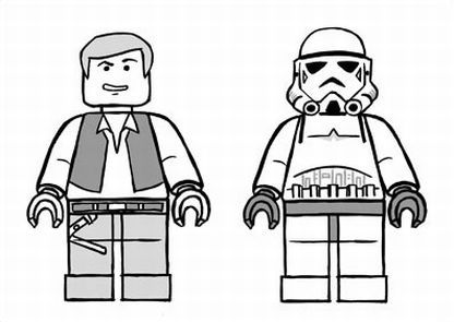 Lego Han Solo And Stormtrooper Lego Coloring Lego Star Wars Birthday Star Wars Colors