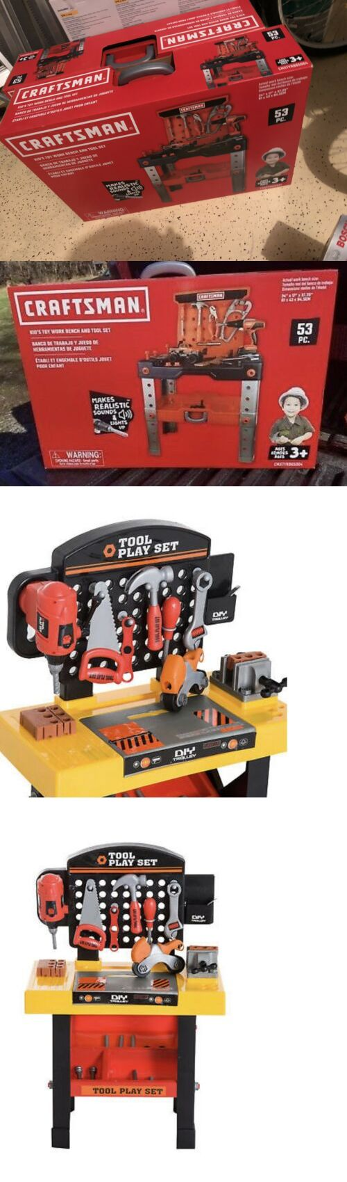 Peachy Tool Sets 158747 Craftsman Kid S Toy Workbench And Tools 53 Machost Co Dining Chair Design Ideas Machostcouk