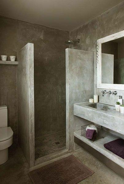 Tadelakt #Bathroom #Beachwood style | carrelage mur sdb | Concrete ...