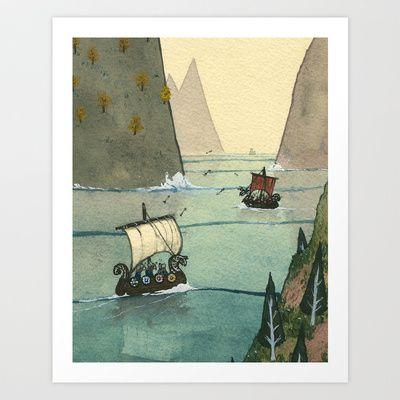 From the Fjords - Battle Art Print by Joe Lillington - $18.00