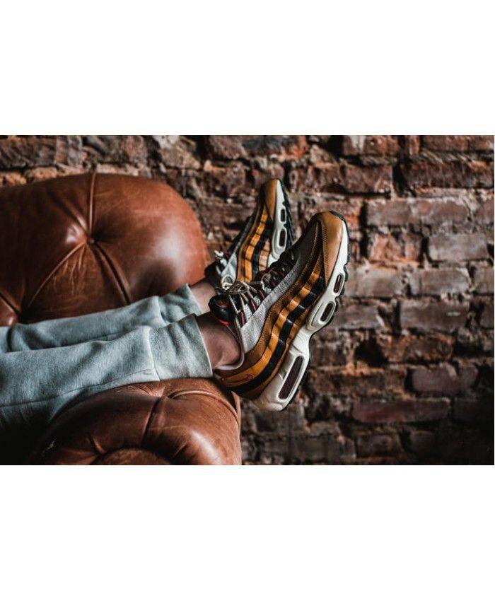lowest price 87af9 6bc51 Nike Air Max 95 Wolf Grey Brown Orange Trainer | nike air max 95 ...