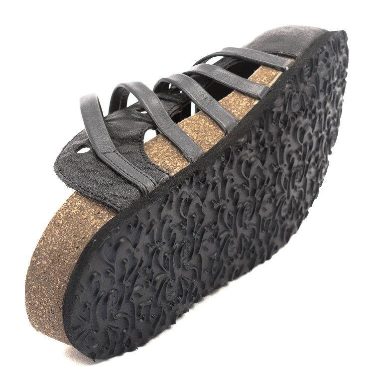 Think 82325 Bluza Damen Pantolette schwarz | Think Shoes at