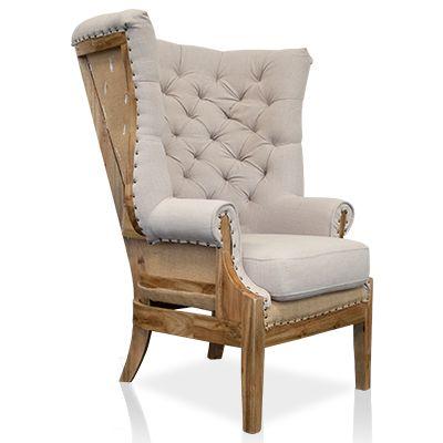 Beautiful Wingback chair from Urban Home | Chair Anatomy ...
