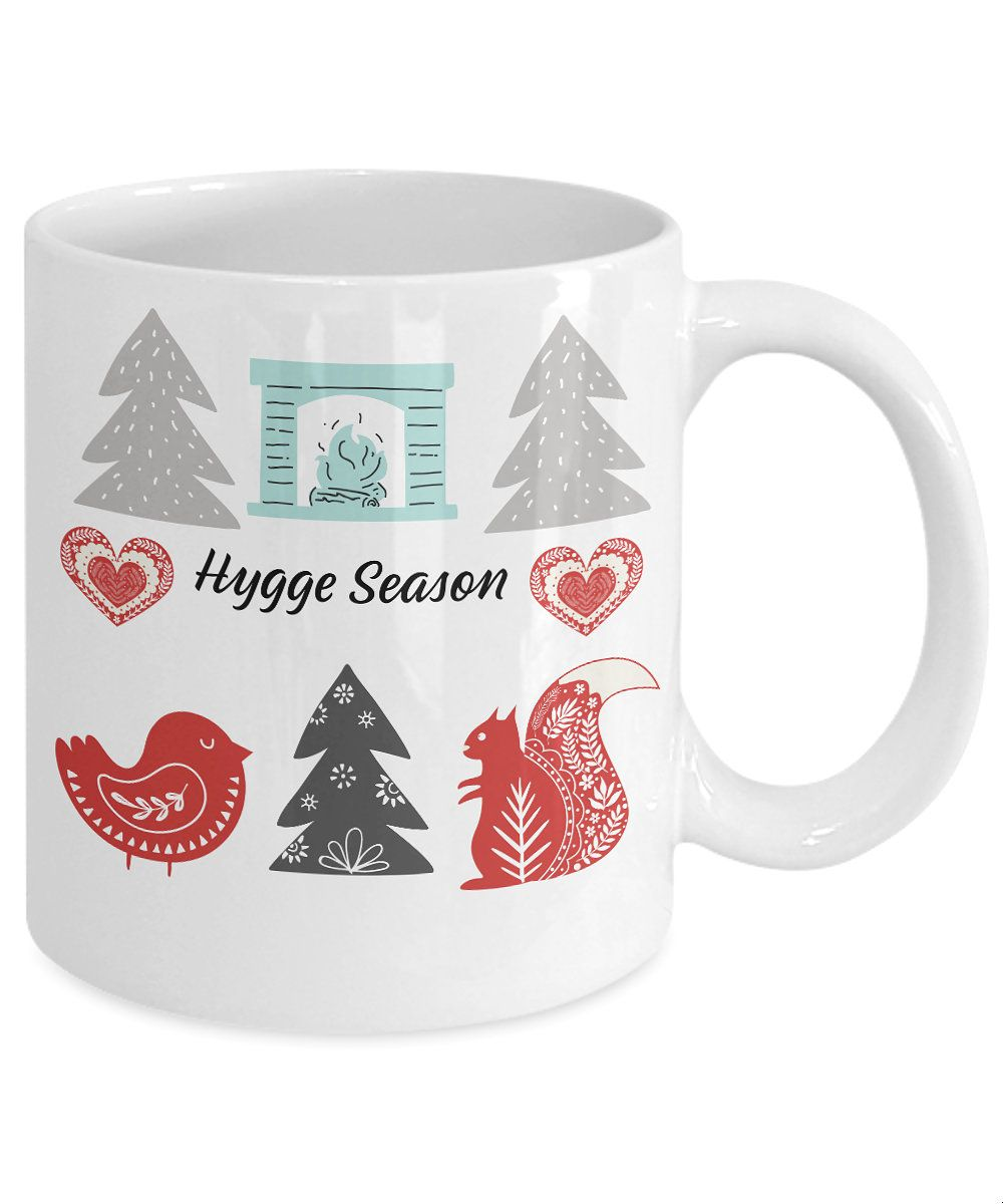 Hygge Season Coffee Mug Scandinavian Decor Danish Nordic Christmas Mug  Custom Mug Minamalist Custom Mug #custommugs
