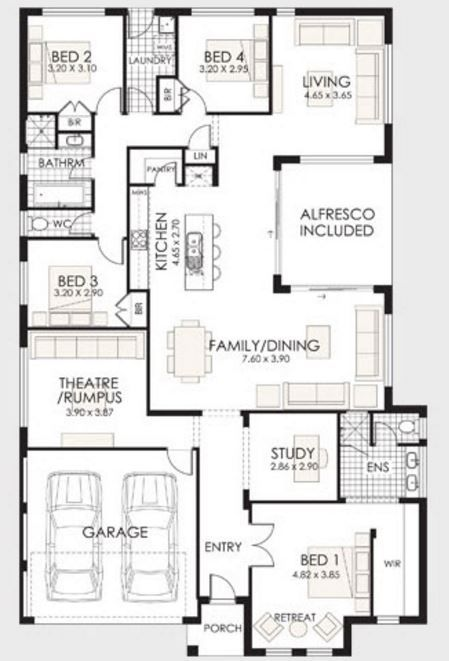Modelos de casas modernas de 4 dormitorios planos de for Planos de casas modernas mexicanas