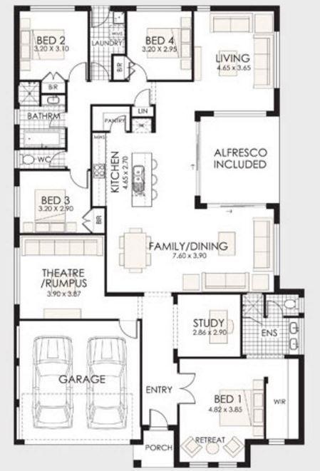 Modelos de casas modernas de 4 dormitorios planos de for Planos de casas medianas