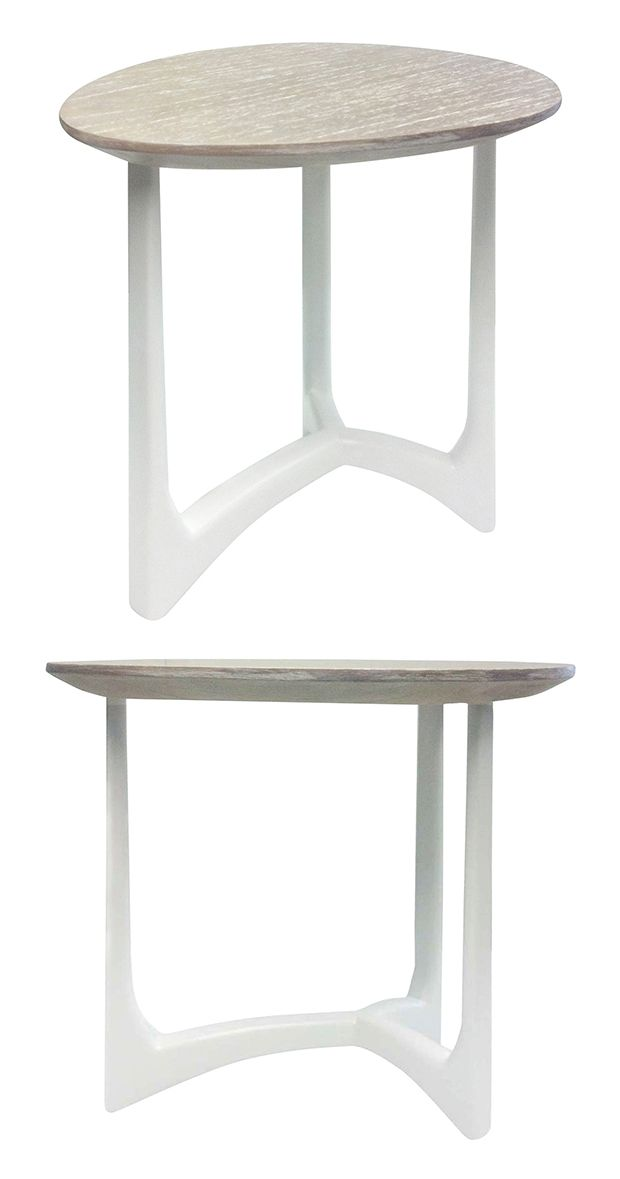 There S A Mid Century Feel To This Decidedly Contemporary Shattuck Side Table