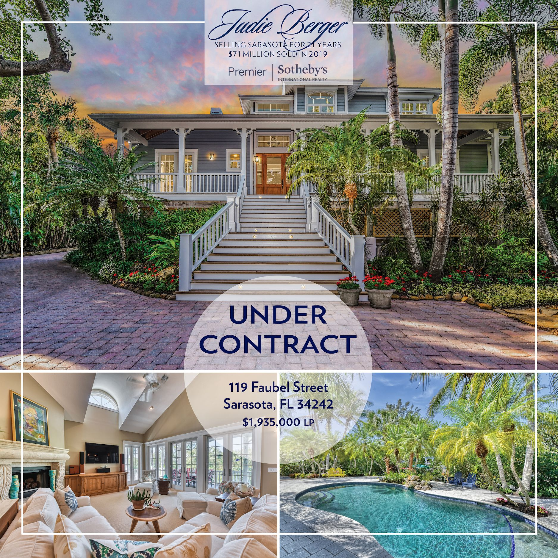 Under Contract On Siesta Key In 2020 Sarasota Property Listing Island Living