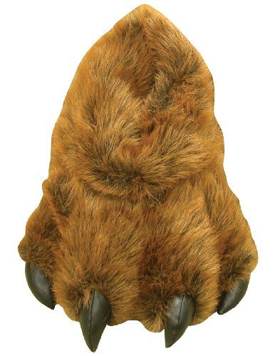 6f1d74289c1 Grizzly Bear Paw Furry Slippers Medium - Kids 7-13 Women 5-9.5 Men
