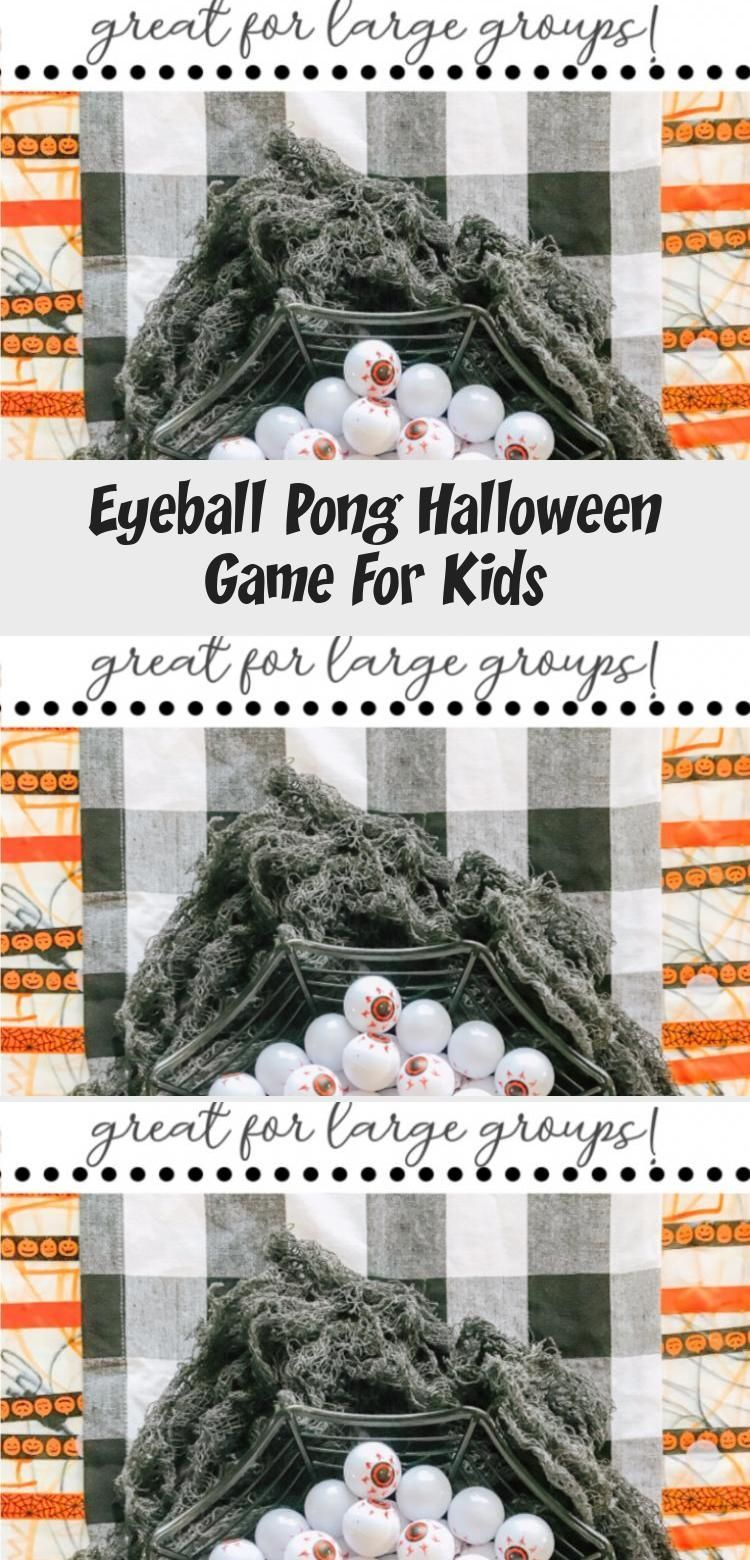 Check out this Eyeball Pong Halloween Game for Kids Its great for classroom parties large groups of kids as well as an easy minutetowinit game games halloween games Eyeba...