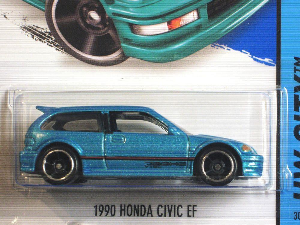 Hot Wheels 2014 1990 Honda Civic Ef Blue Hot Wheels Honda Civic Civic Ef