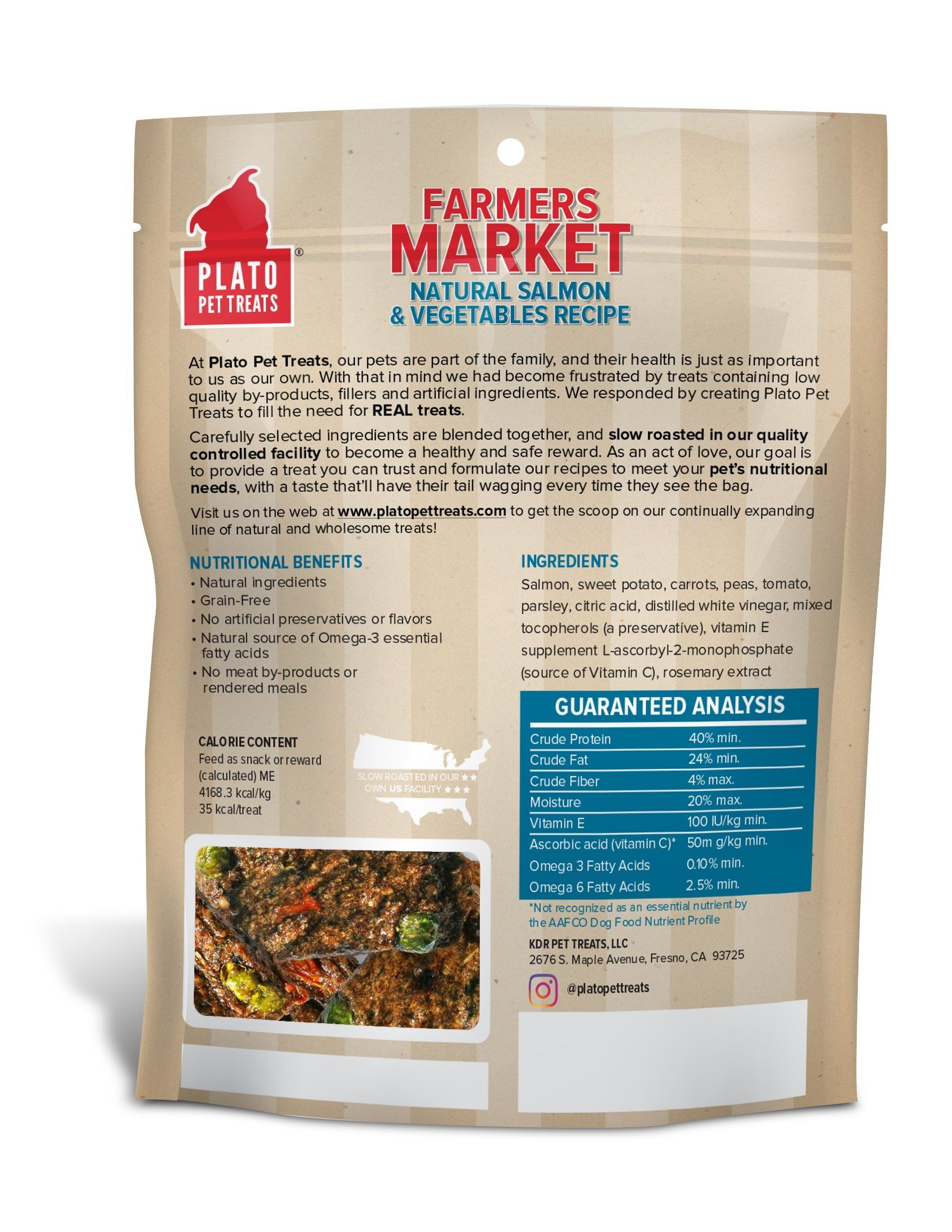 Plato Farmers Market Salmon And Vegetables Dog Treats 14 1ounce