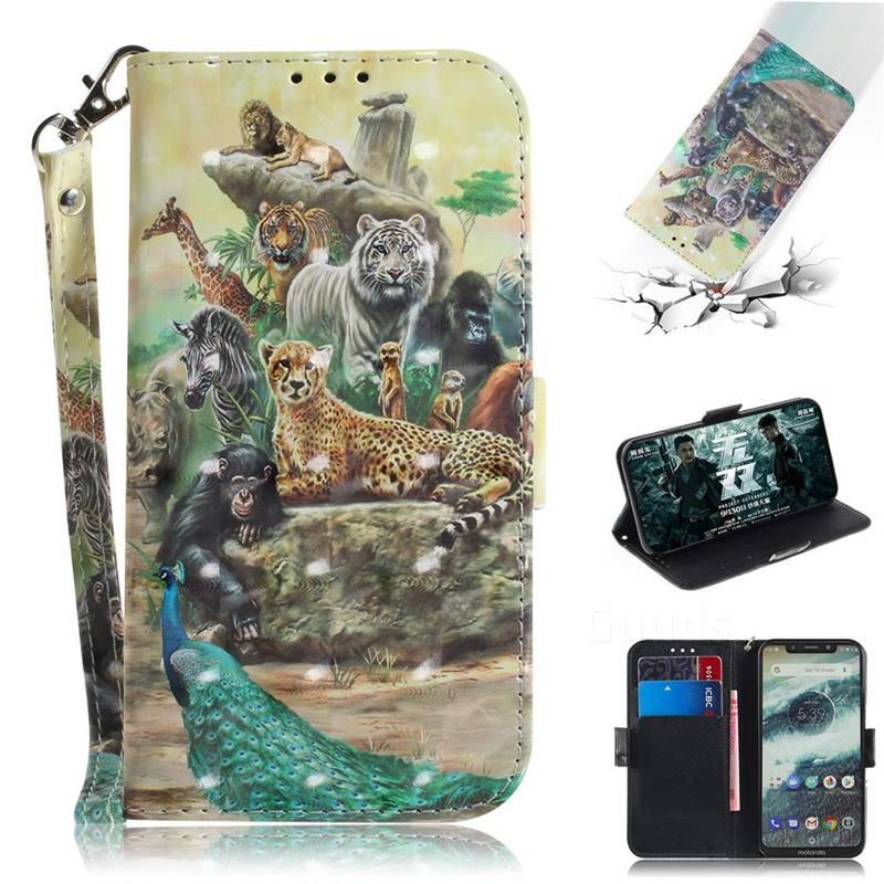 Beast Zoo 3D Painted Leather Wallet Phone Case for Motorola One (P30 Play) – Motorola One (P30 Play) Cases – Guuds – Motorola One (P30 Play) Phone Cases
