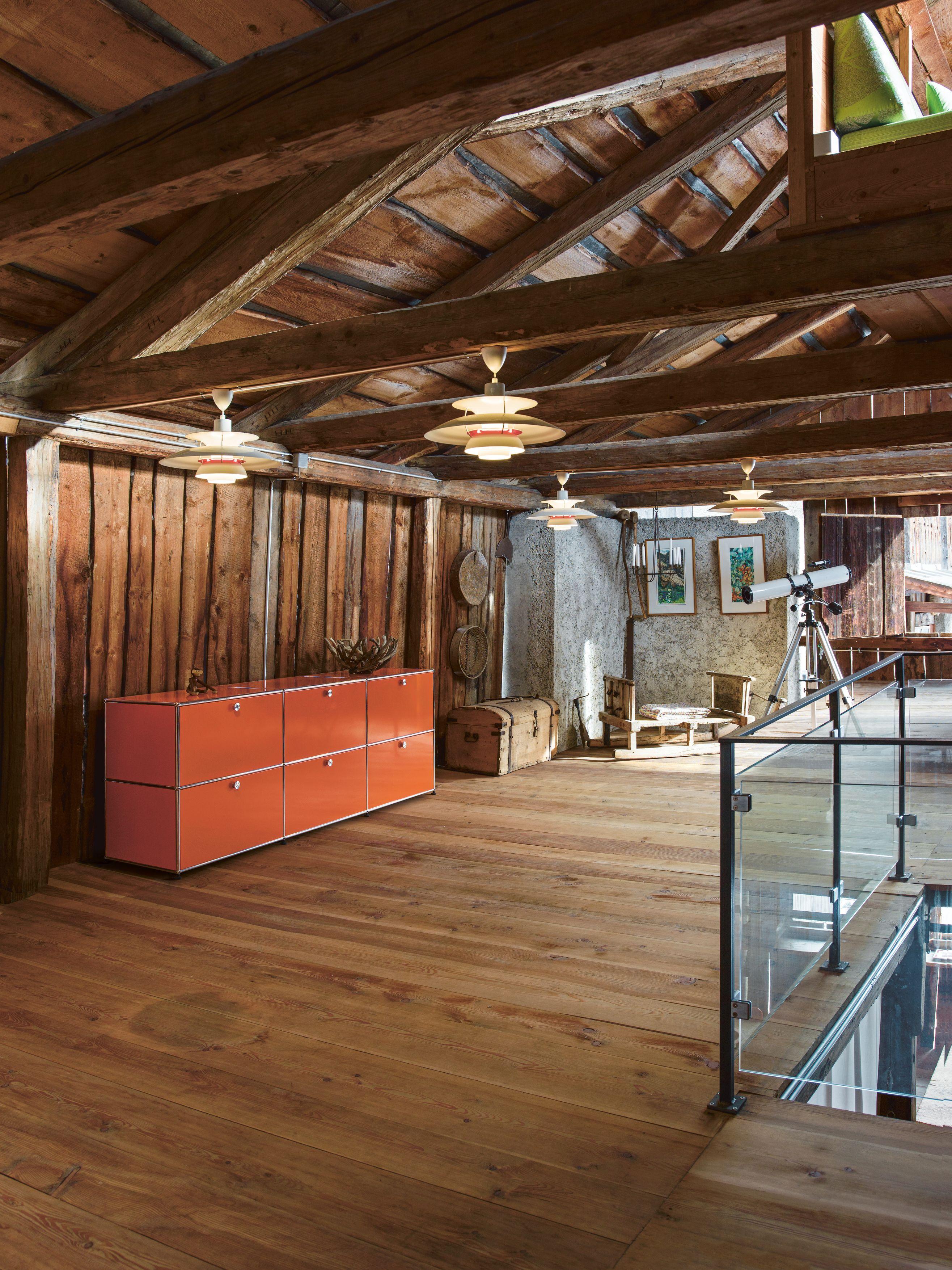 USM Haller Sideboard pure-orange with 6 extension doors, USM ...