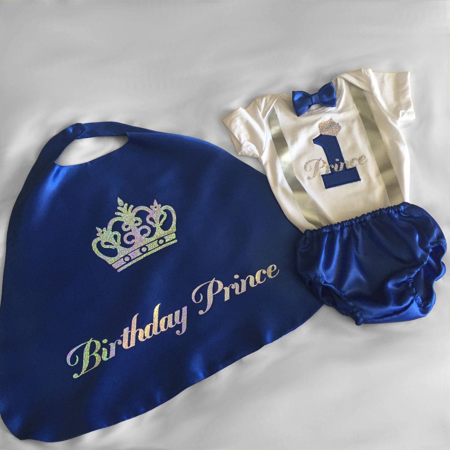 0fbbf4092 ... Prince Personalised Baby boy 1st Birthday Outfit...1st Birthday dress  up...Cake Smash Outfit...Baby photo shoot outfit by BuBBlingBoutique on Etsy