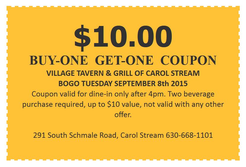 village tavern coupons