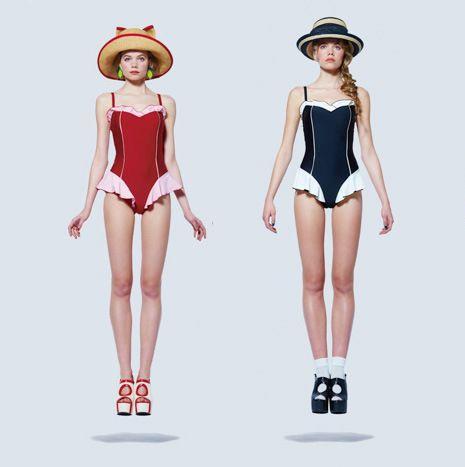 c1d01e3f4a7 Japanese school swimwear lolita girl women student sexy falbala skirt Cute  anime cosplay Su ku water One piece swimsuit-in Holidays Costumes from  Novelty ...