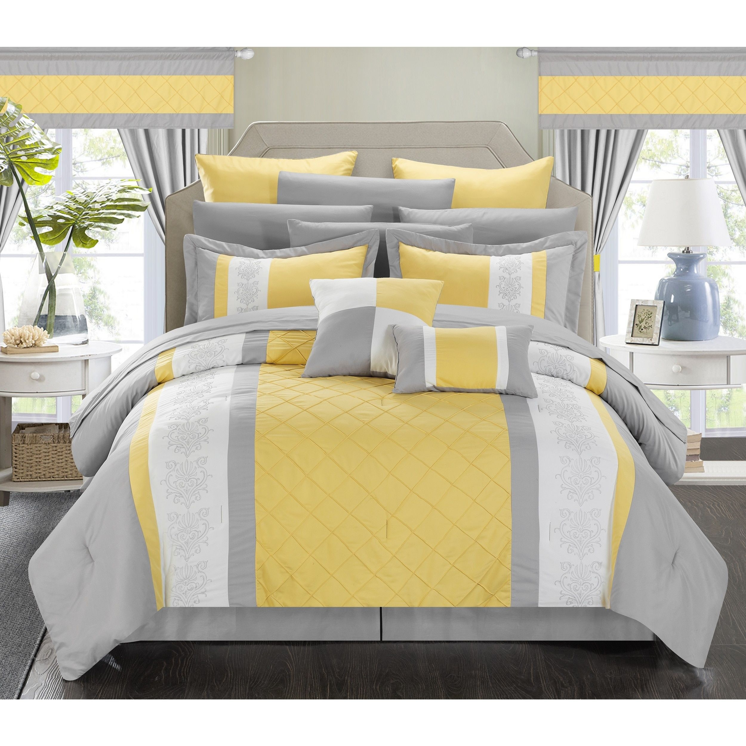 Oliver & James Marclay Yellow 24-piece Bed in a Bag Set ...
