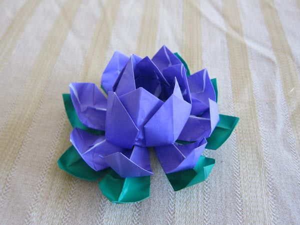 Origami flowers the finished origami lotus flower is about 6 in origami flowers the finished origami lotus flower is about 6 in diameter and about mightylinksfo