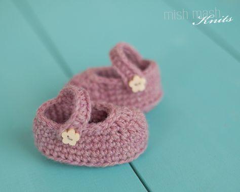 Free Crochet Mary Jane Shoe Pattern For Newborn Or 18 Doll