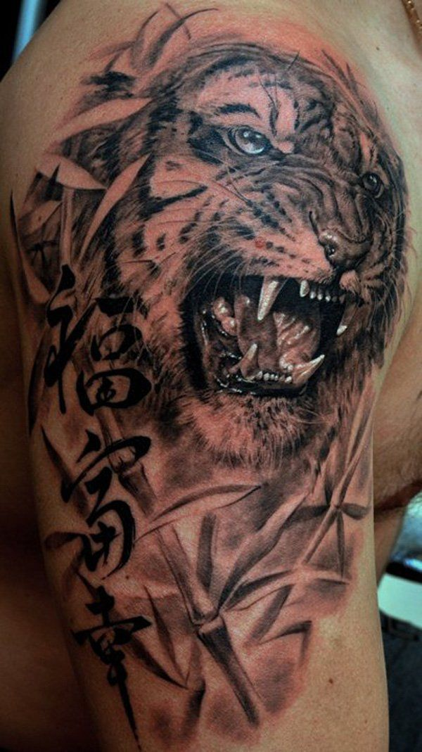 e1163f604 This site contains all about 55 Awesome Tiger Tattoo Designs Art and Design.