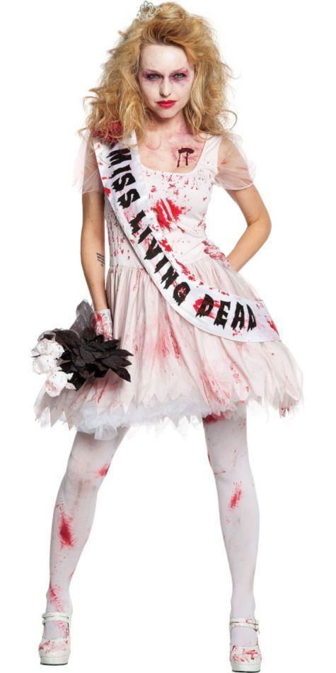 Adult Putrid Prom Queen Costume , Party City