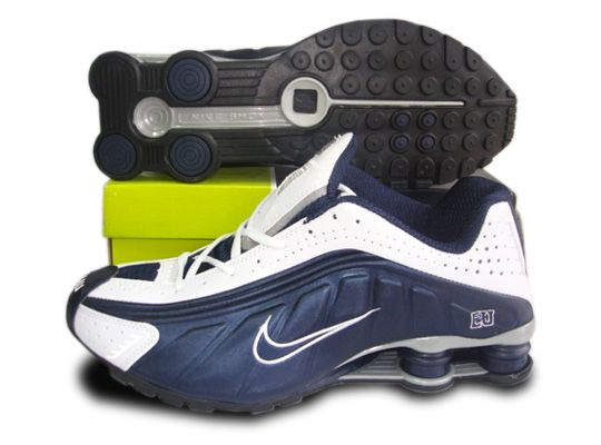 Cheap Men Nike Shox R4 Shoes Ordinary dark blue