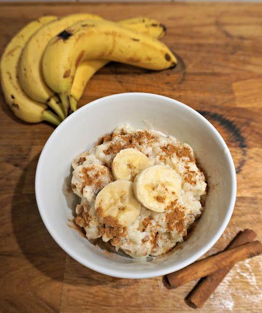 Mit Reis Oder Hafer Drink Ist Das Rezept Vegan Gebackener Milchreis Mit Zimt Und Banane Milchreis Rezept Milchreis Milchreis Kochen