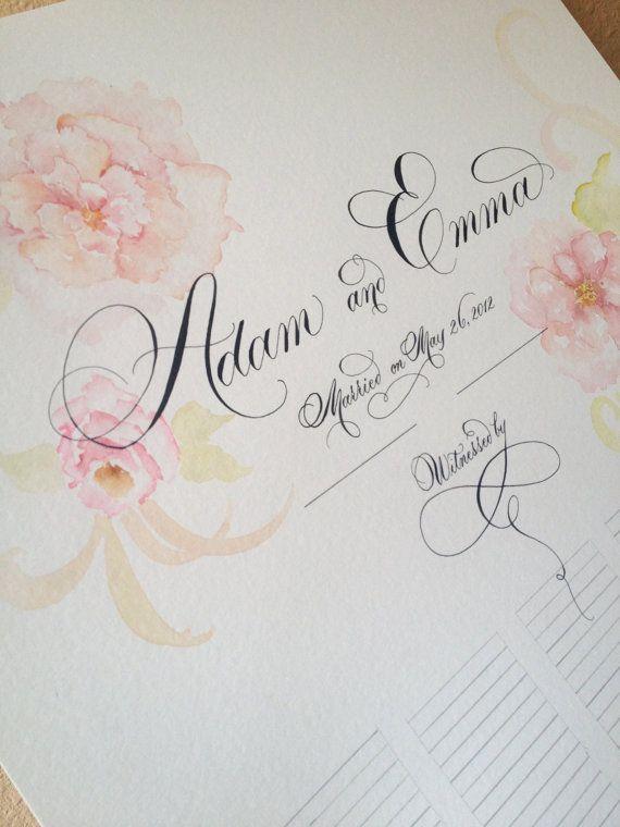Custom Wedding Guest Sign-In Scroll - as seen in BRIDES