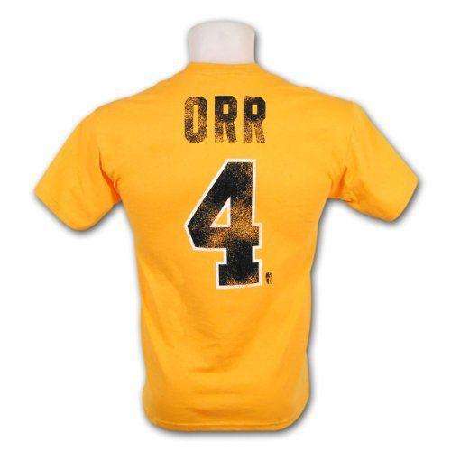 3af4cfd57 Boston Bruins Bobby Orr Vintage NHL Alumni T-Shirt (Gold) Size XXL ...