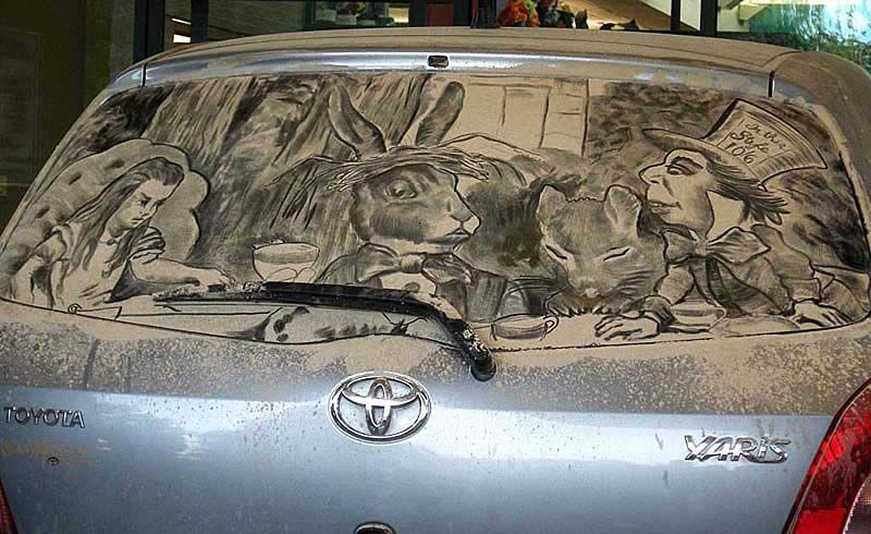 The Dust Art Of Scott Wade Car Dust Art Pinterest Creative - Scott wade makes wonderful art dusty car windows