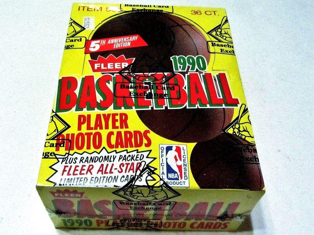 19901991 fleer basketball wax box bbce sealed