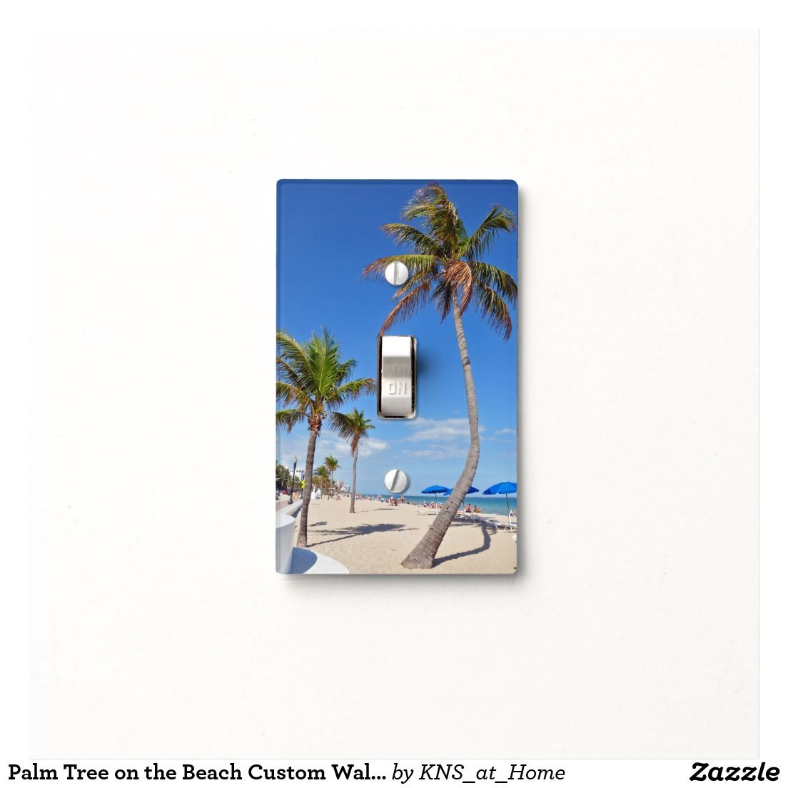 Palm Tree on the Beach Custom Wall/Switch Cover Switch Plate Cover - original photograph printed on acrylic.