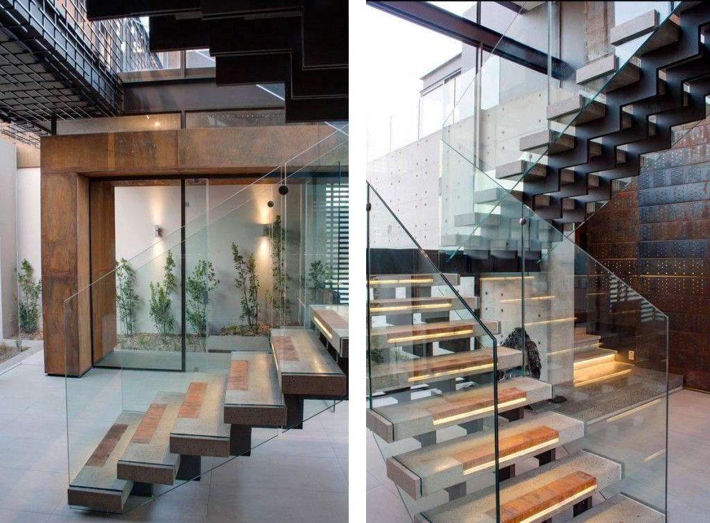 Best Architecture Concrete Staircase With Steel Inlays And 400 x 300
