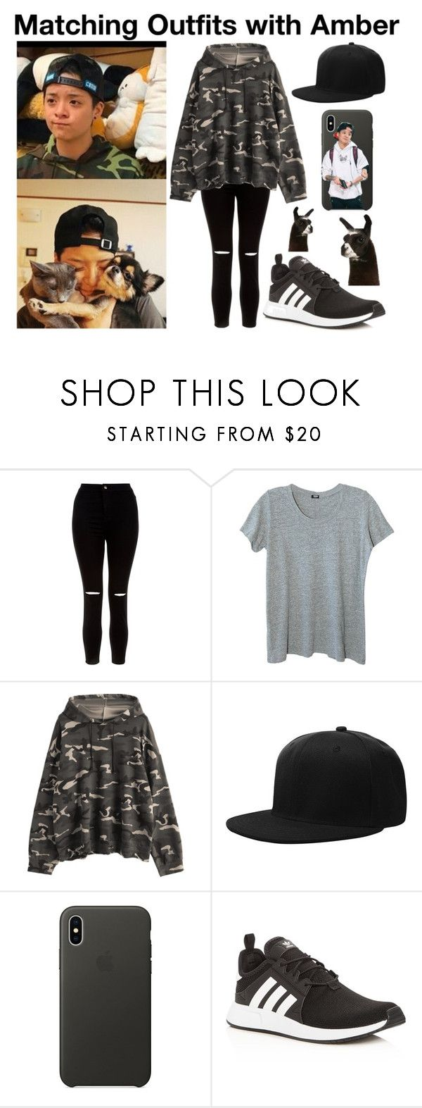 """""""#91"""" by kookiedough97 ❤ liked on Polyvore featuring New Look, Monrow, Apple and adidas"""