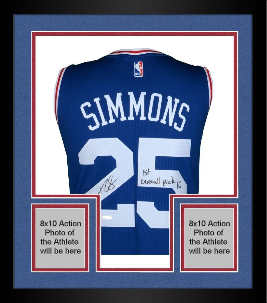 cf990eb6a Autographed Ben Simmons 76ers Jersey Fanatics Authentic COA Item 8322138