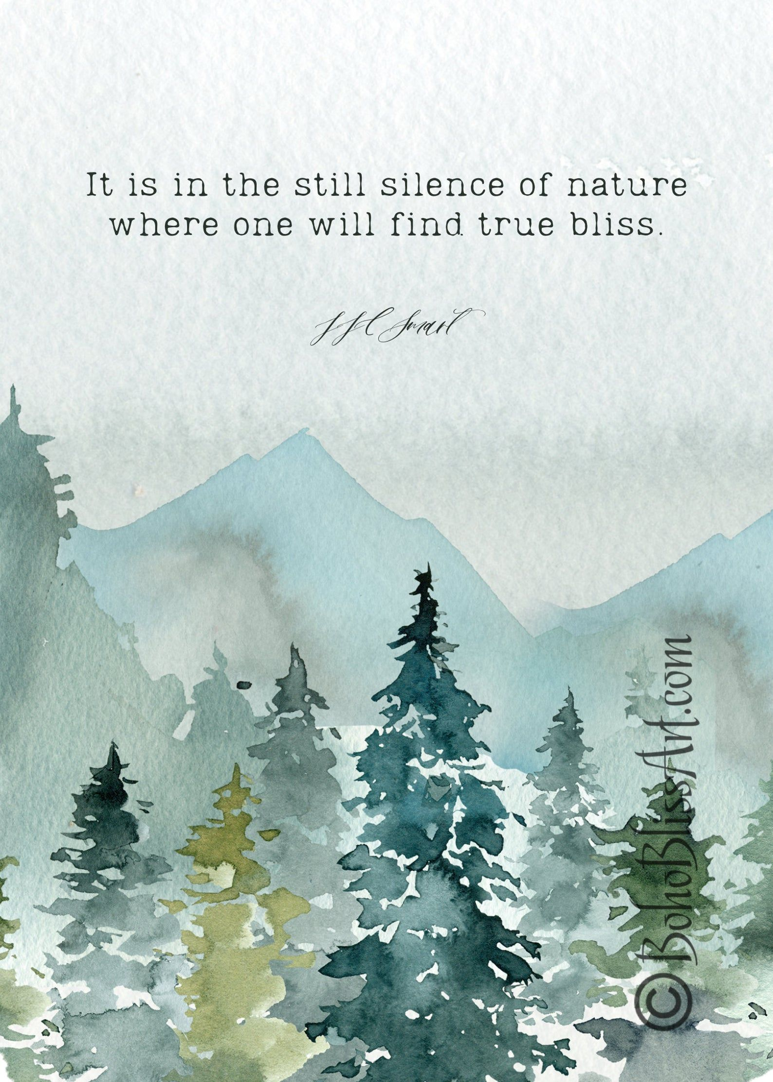 J.J.C. Smart Quote: It is in the still silence of