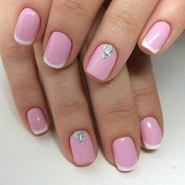 Lujo Elegantes Uñas De Color Rosa Ornamento - Ideas Para Pintar Uñas ...